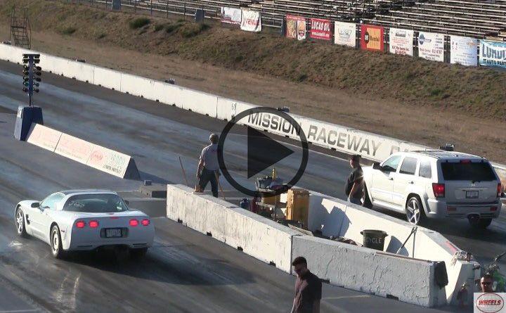 Chevrolet Corvette C6 Vs Jeep Grand Cherokee Srt 8 Drag Race