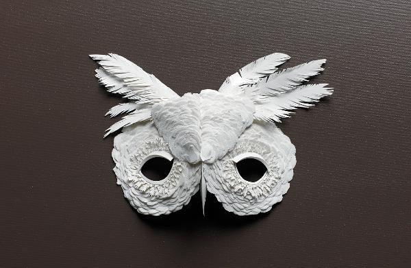 Paper cut project halloween mascaras de papel - Disfraces de buhos ...