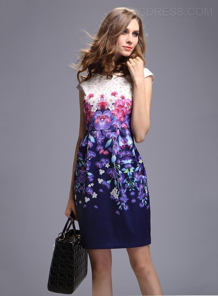 a01c8e2150 vestidos elegantes estampados florales - Buscar con Google ...