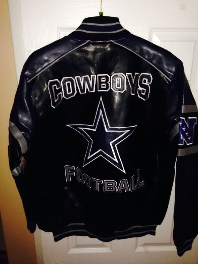 wholesale dealer 86cbb 6df76 NFL DALLAS COWBOYS NWT VEGAN LEATHER JACKET COAT MENS SZ L ...