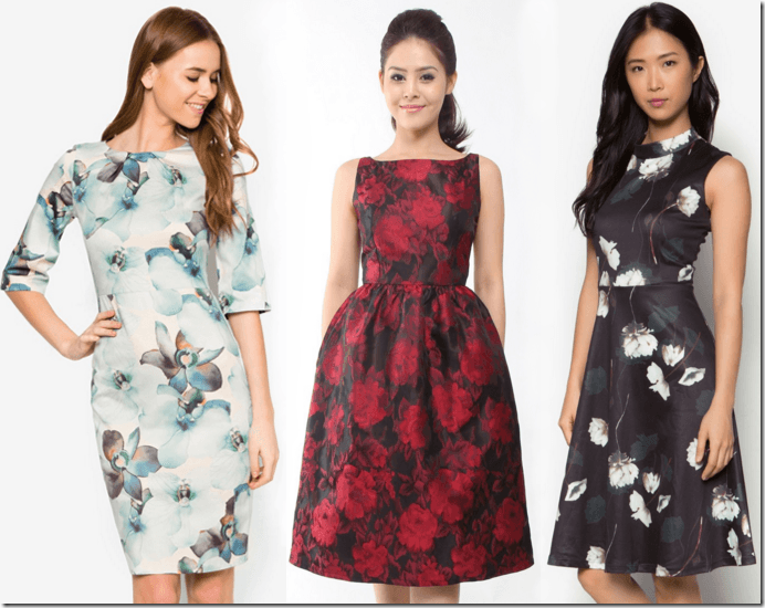 Fashionista Now 7 Patterned Midi Dress Ideas For Chinese Lunar New Year 2016 New Years Dress Dress Images Dresses