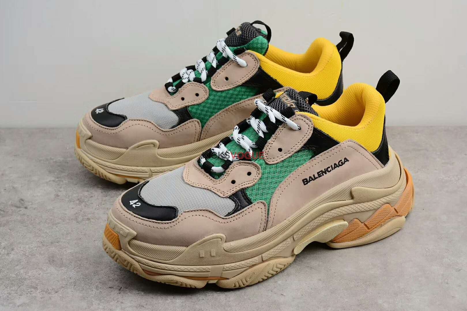 Balenciaga Triple S TRAINER DAD SHOES Yellow Green