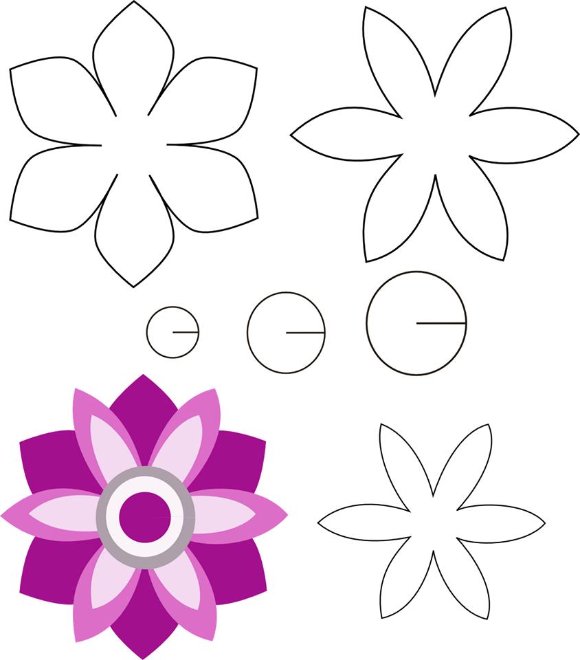 Как делать цветочки из бумаги на открытку поэтапно