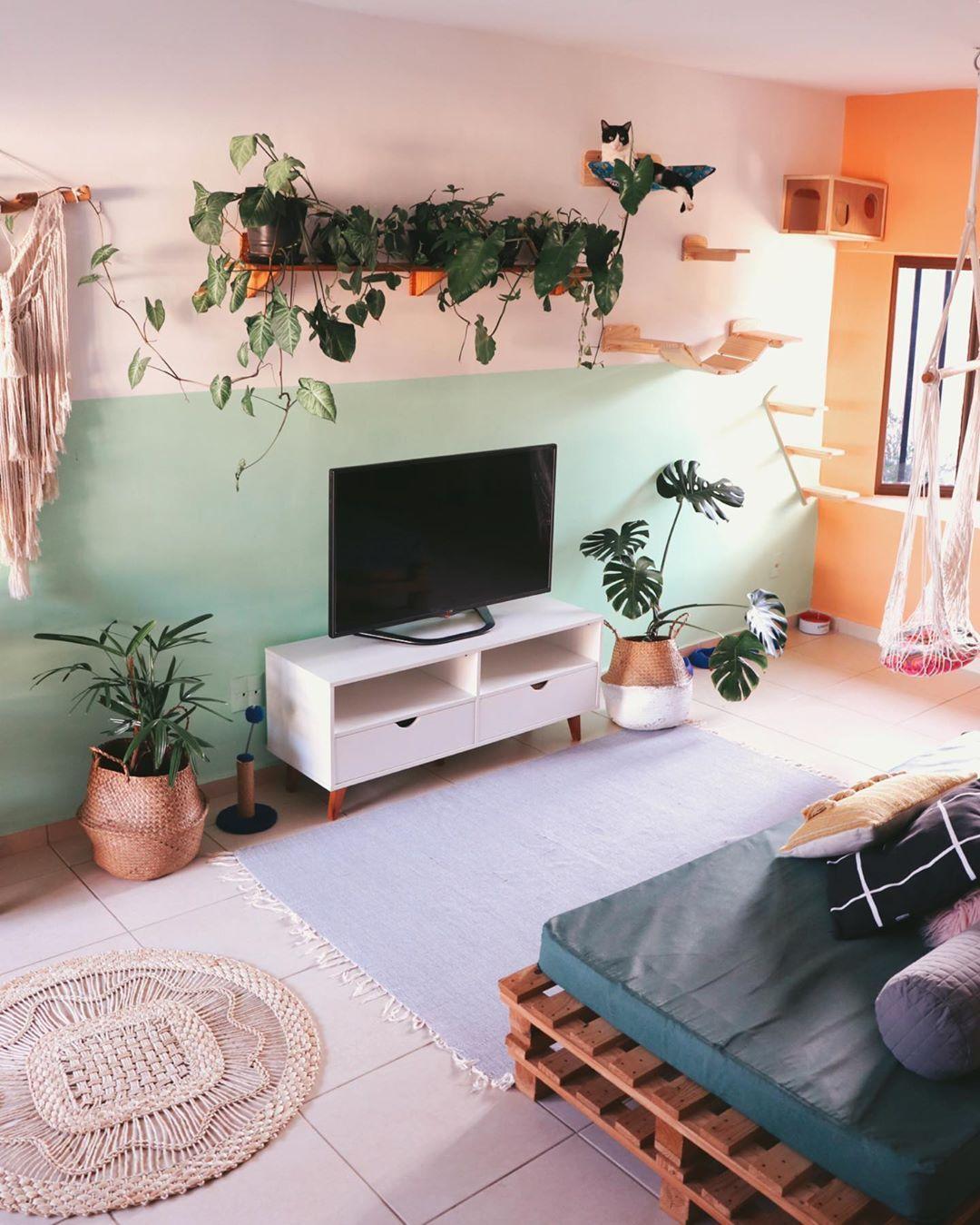 "CASA 14 INSPIRA on Instagram: ""😌😌       #casacomplantas #urbanjungle #urbanjunglebr #urbanjungleblog #interiorstyling #decorsala #decorsaladeestar"""