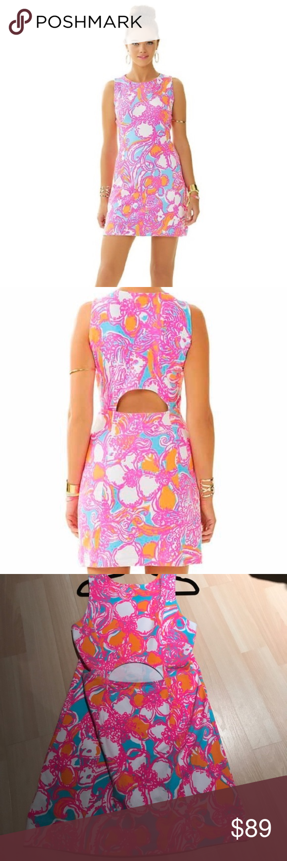 d3bbabb84a1d08 Lilly Pulitzer Whiting Cutout Shift Dress L EUC. Worn once. Lilly Pulitzer  Whiting cutout