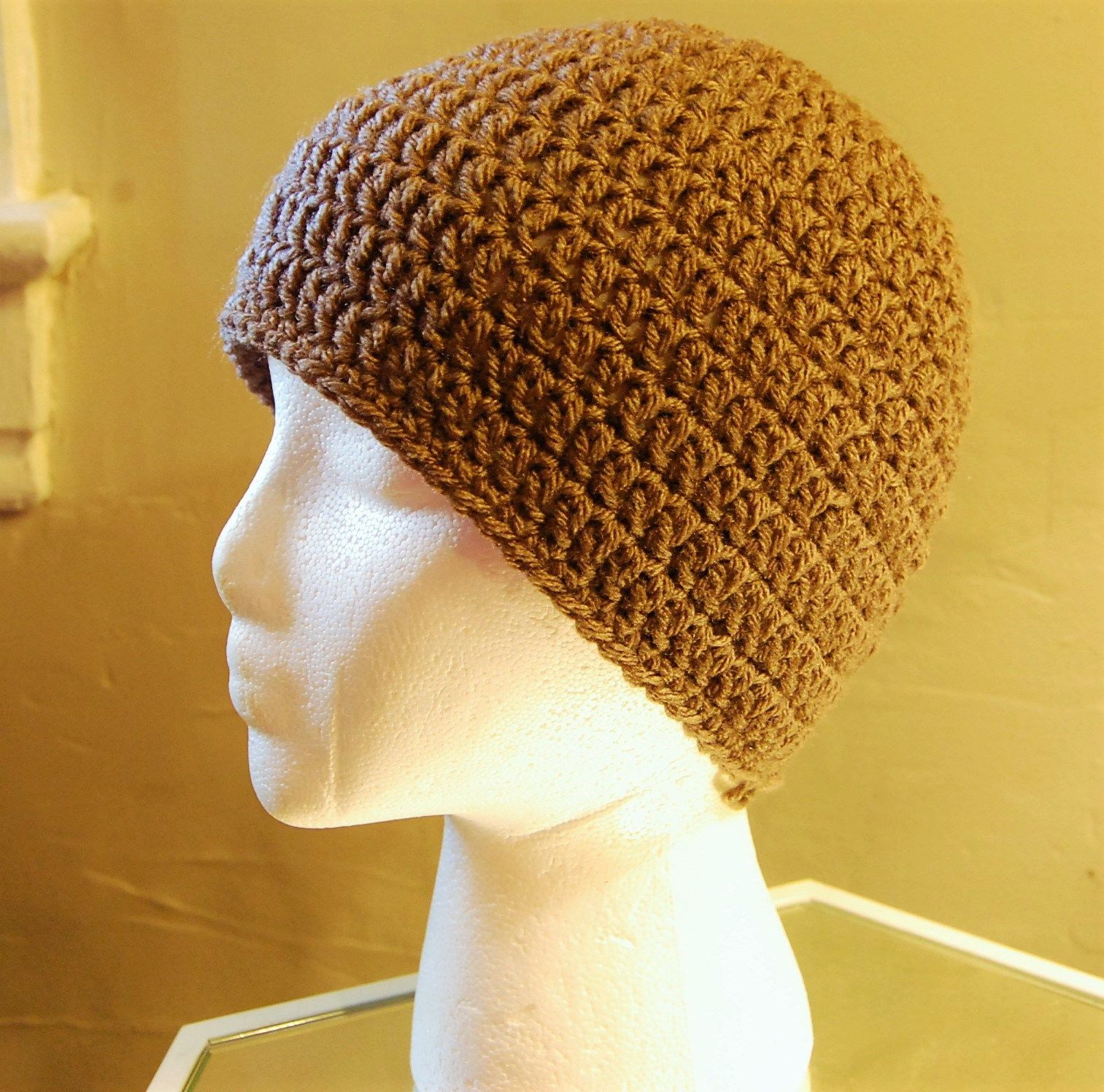 Basic crochet men\'s hat pattern by JJCrochet. Love that it\'s free ...
