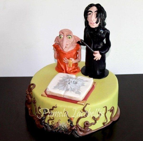 Harry Potters Snape and Dobby by Pamela Iacobellis Nerd Cakes