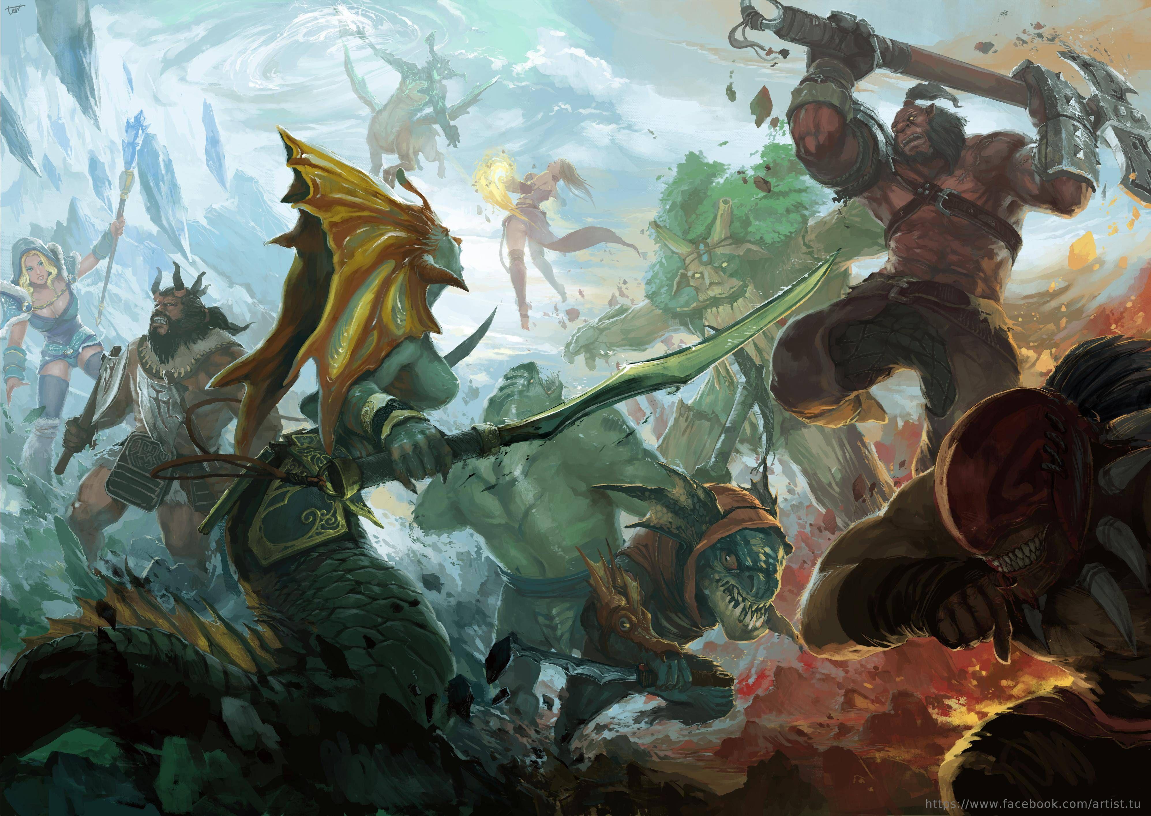 Amazing Dota 2 clash painting by Tuartist, a Vietnamese artist | Character  art 3d, Art, Warcraft art