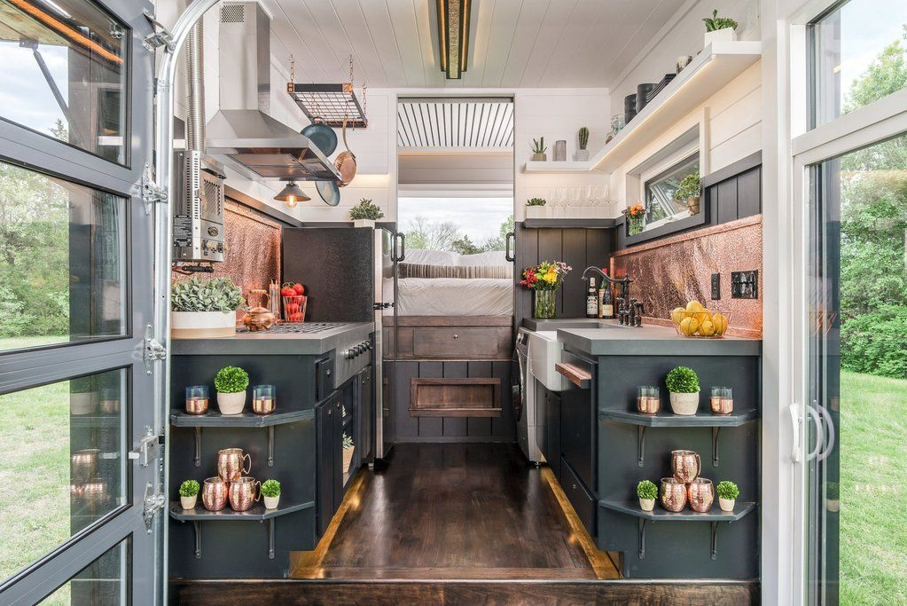 Escher Tiny House On Wheels By New Frontier Tiny Homes   Kitchen