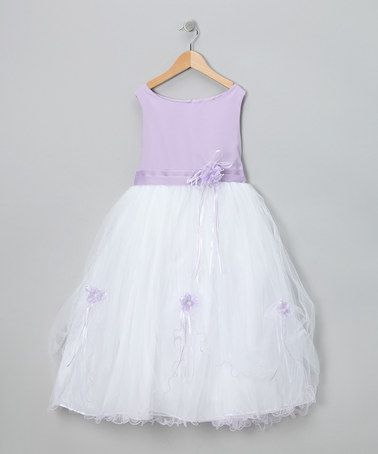 Take a look at this Lavender Flower Fluff Dress - Toddler & Girls by Dressed to the Nines: Kids' Apparel on #zulily today!