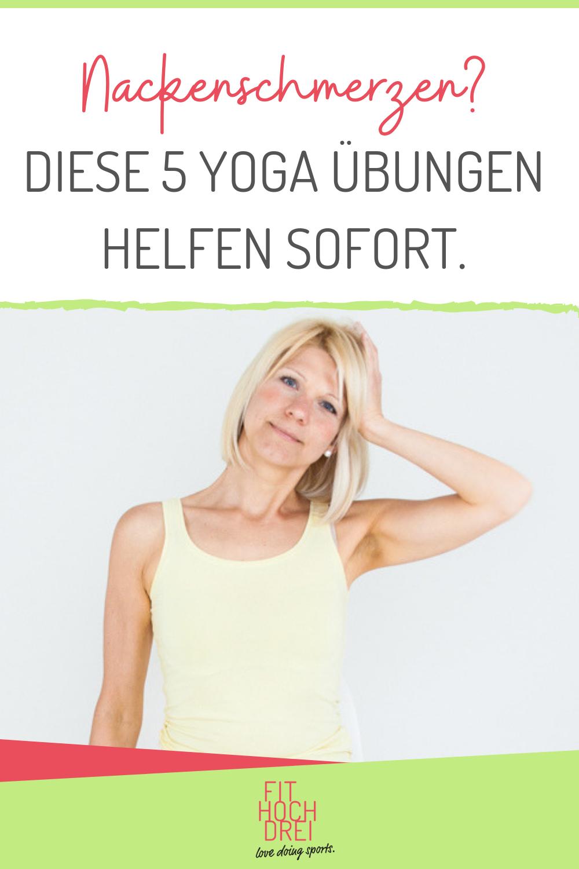 Nacken und Kopfschmerzen in 8 Minuten lösen. Dein Nacken ist verspannt und schmerzt? Diese 5 Yoga Übungen helfen Dir! Wenn Du Dir nichts sehnlicher wünscht, als Deine Nackenschmerzen endlich loszuwerden, dann schau diese Woche in meinen Video. Hier findest Du die besten Übungen, um Deinen Nacken- und Schulterbereich zu entlasten, damit Nackenverspannungen für Dich kein Problem mehr sind. Ob das funktioniert? Und ob! Love doing sports… Deine Tina #Nackenschmerzen