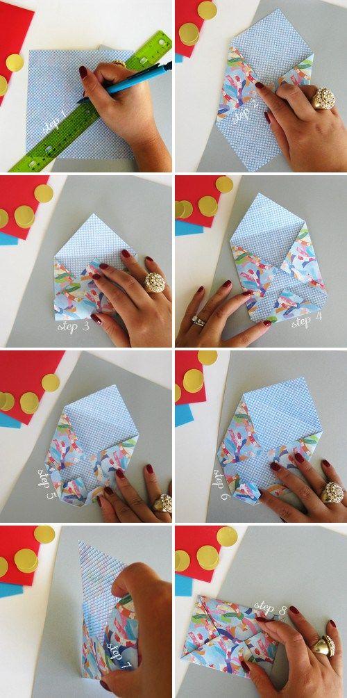 Origami Envelope Gift Card Envelope Paper Crafts Origami Envelope
