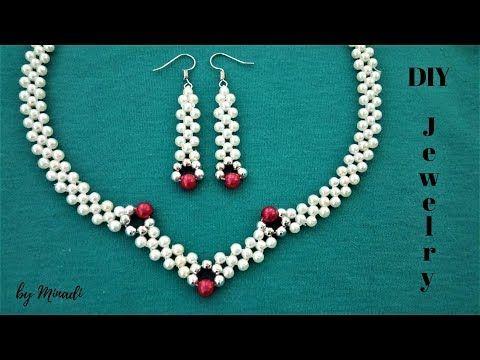 812702e944cf How to make an elegant jewelry set. Beading tutorial - YouTube ...