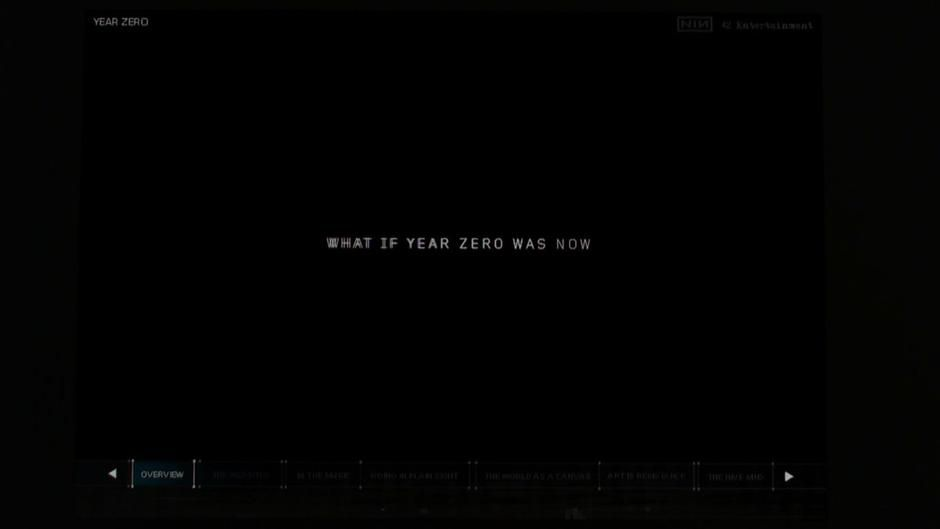 Concert as reward. Nine Inch Nails Year Zero viral Campaign on Vimeo ...