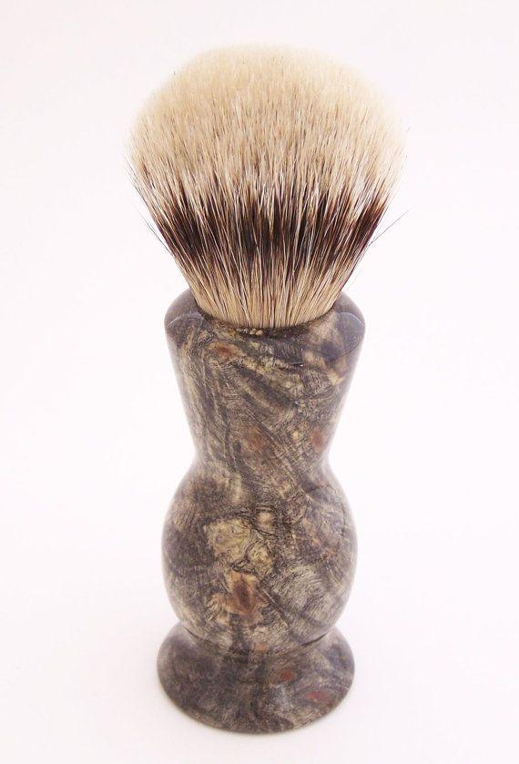 Buckeye Burl Wood 24mm Super Silvertip Badger Hair Shaving Brush ... 5541731ab0