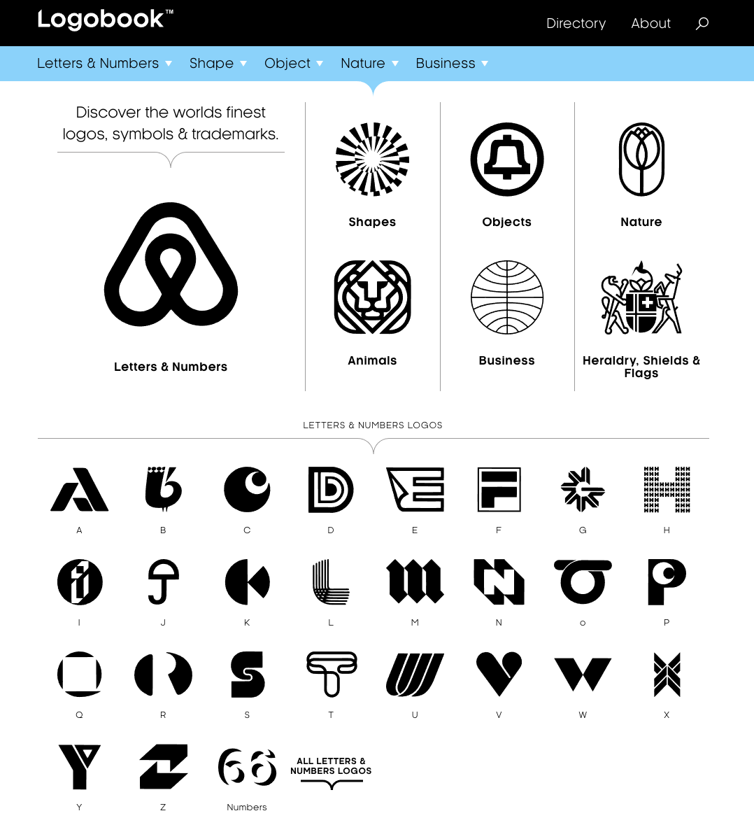 Logobook is a showcase of the finest logos, symbols