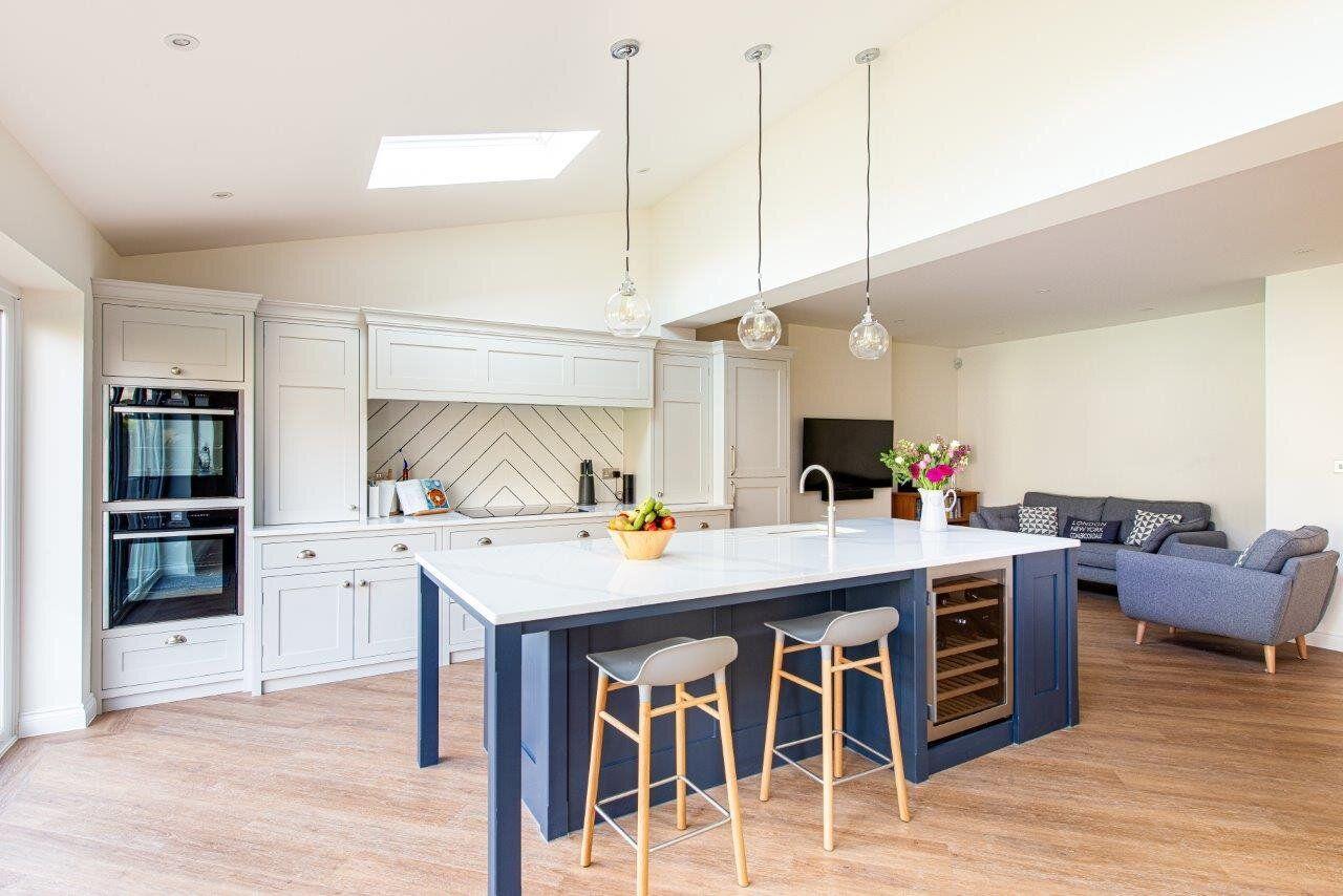 Pinstripe Peckham Kitchen Herringbone Kitchens In 2020 Small House Renovation Bespoke Kitchens Kitchen