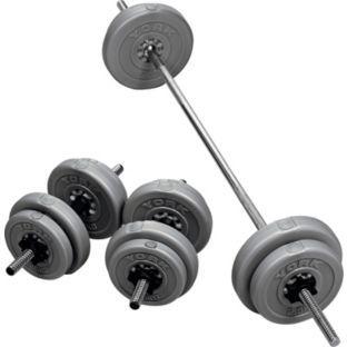 163 39 99 Buy York 35kg Vinyl Barbell Dumbbell Weights Set At