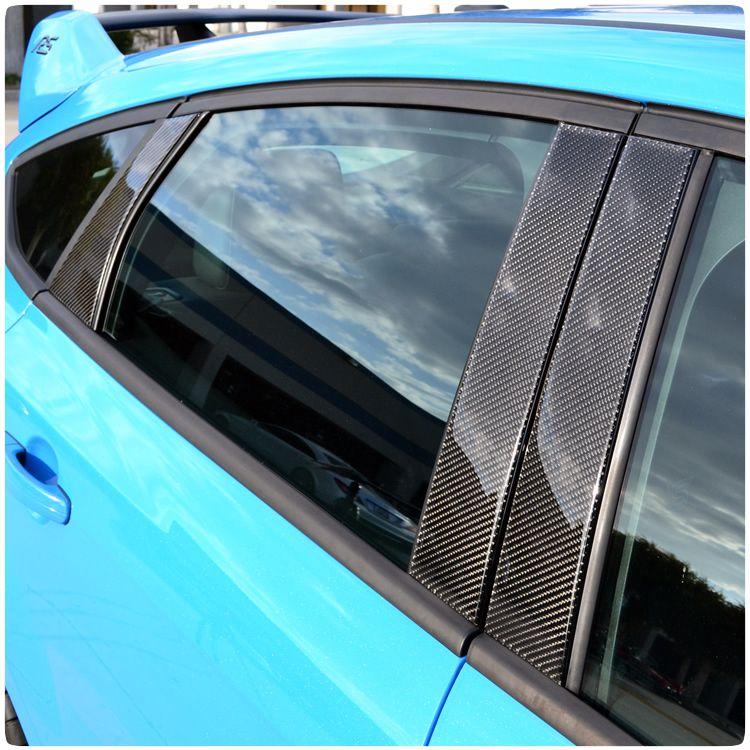 Ford Focus Rs St Carbon Fiber B C Pillar Accent Kit From Tufskinz Ford Focus Rs Ford Focus Custom Car Interior
