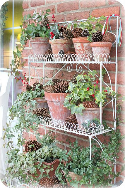 What A Great Idea For Winter Plant Stand On The Porch