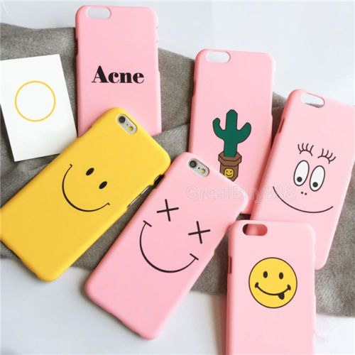 Details about Cute Cartoon Smile Face Cactus Hard Phone Case