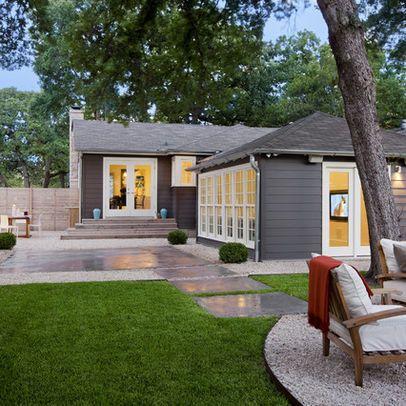 Very Simple Stark Modern Landscape Modern Backyard Modern
