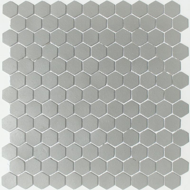 Lyric Unglazed Porcelain Hexagon Mosaic Tile In Storm Gray Hexagonal Mosaic Hexagon Mosaic Tile Glass Tile Design