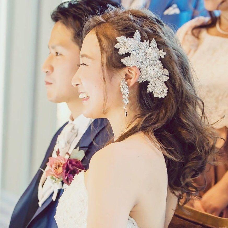 大人かわいいになりたい花嫁さんにはダウンヘアスタイルがおすすめ