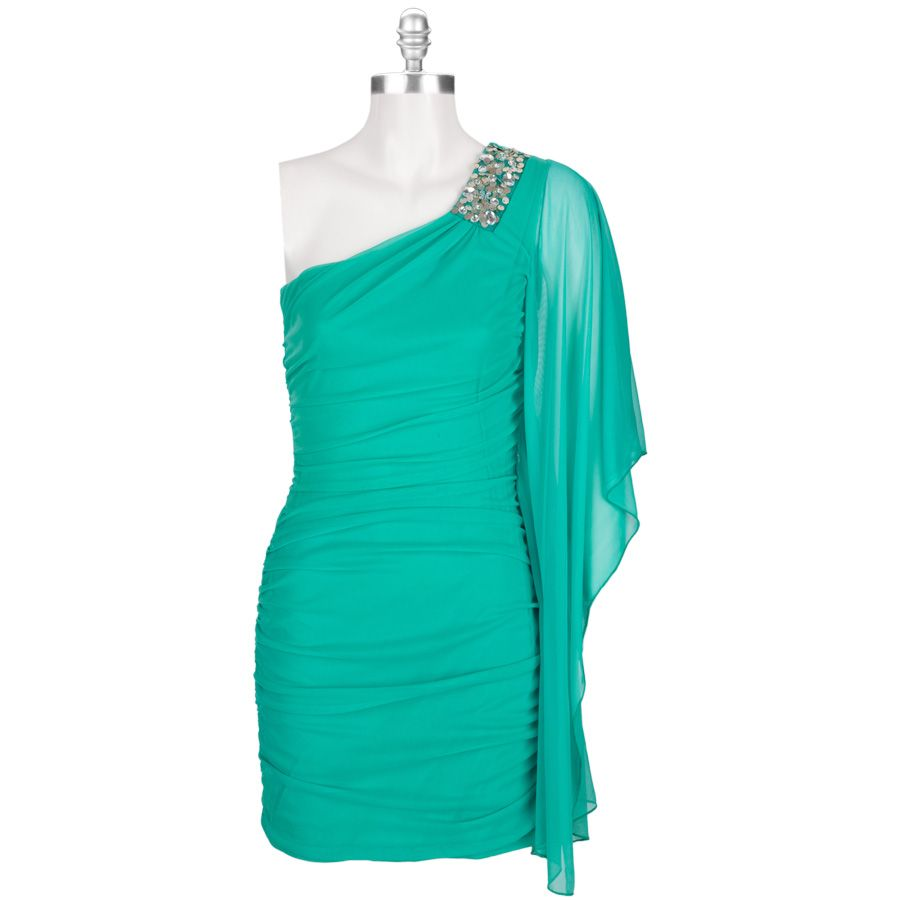 Ruby Rox Juniors Ruched One-Shoulder Dress #VonMaur (With