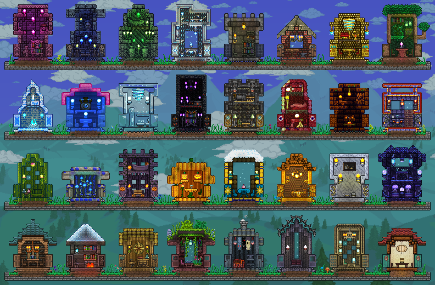 Starbound all armor sets terraria