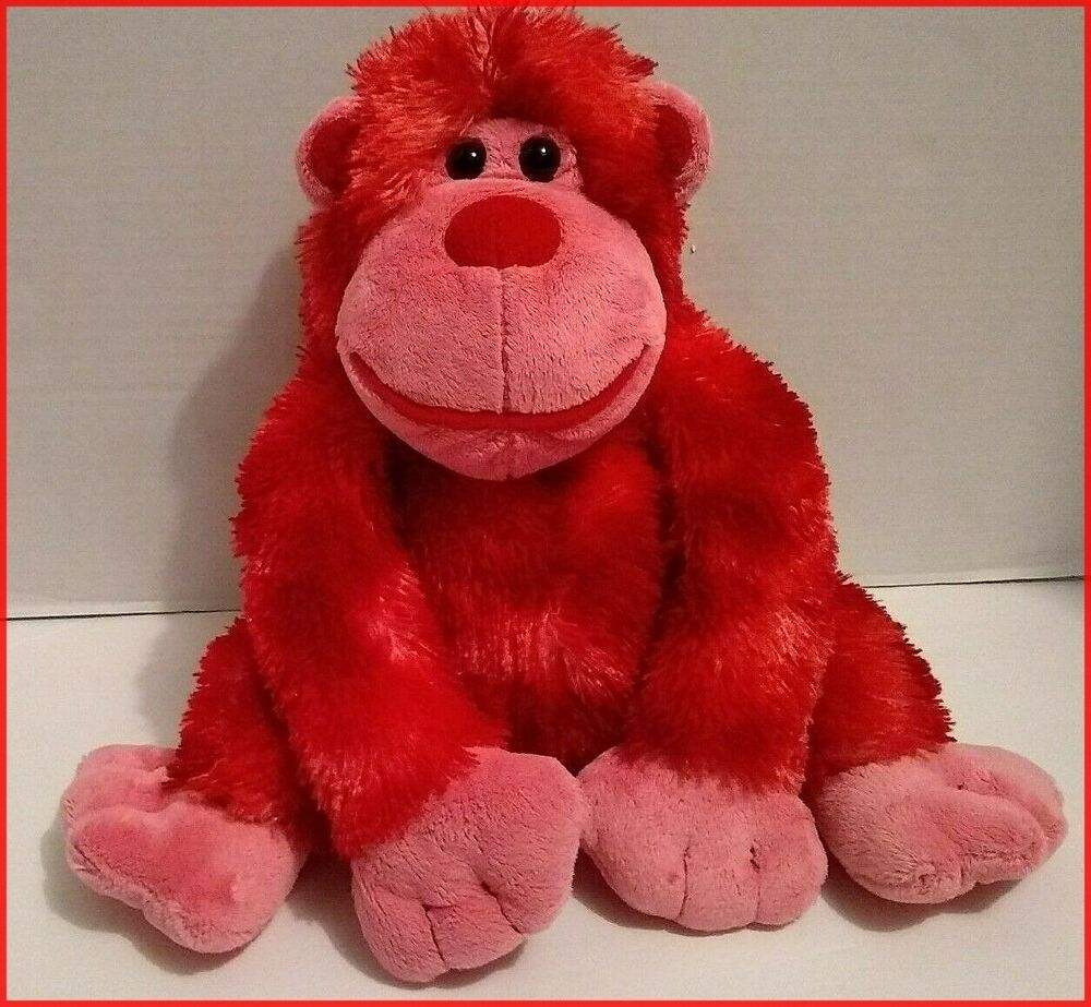 Red Gorilla Monkey Walmart Plush Stuffed Animal Toy Ape