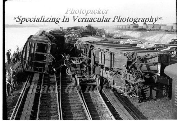 photopicker Train Crash Vintage Photography by photopicker on Etsy