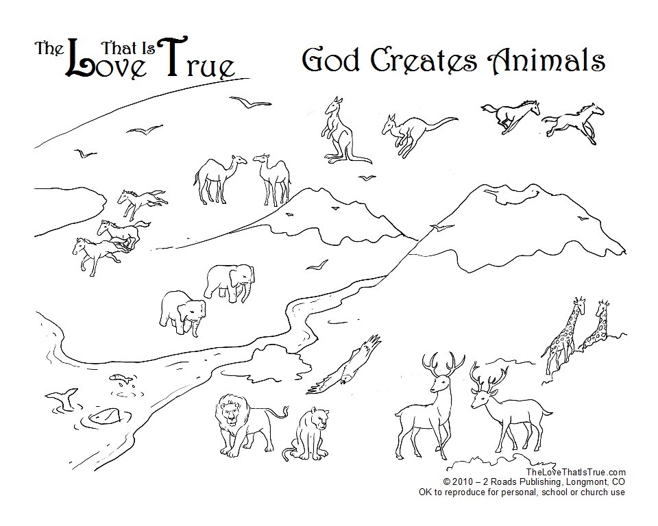 God made animals Coloring Page | Creche activities | Pinterest ...