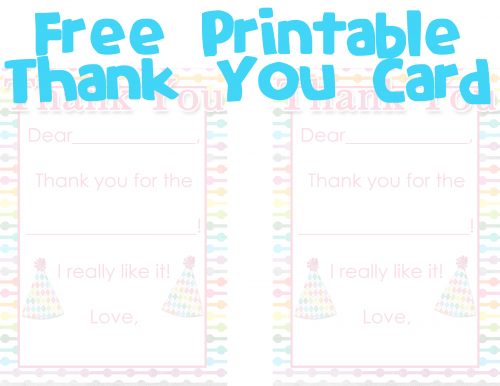 photograph about Fill in the Blank Thank You Cards Printable referred to as No cost Printable Fill-within just-the-blank Thank on your own Card For the