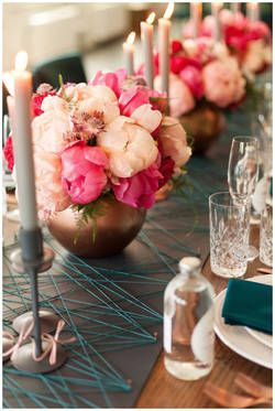 Hochzeitsdeko Diy String Art Tischlaufer 1001hochzeiten De