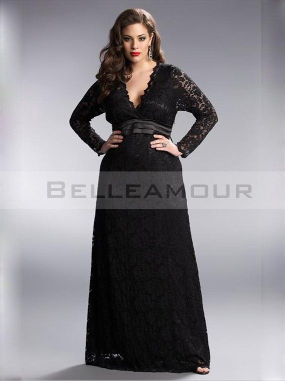 Robe noire chic manches longues