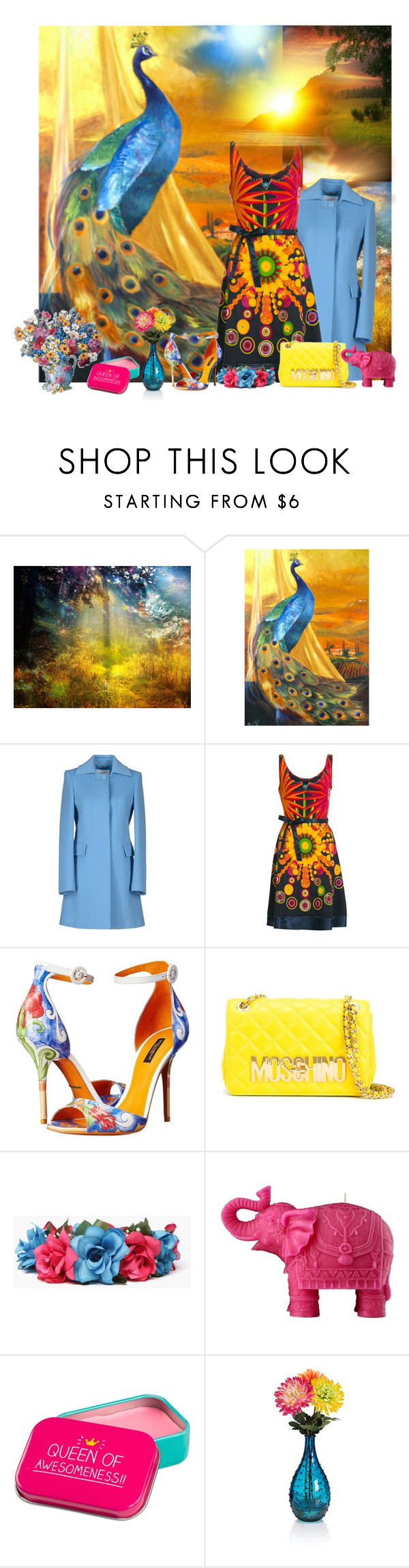 """Untitled #2015"" by tina-teena ❤ liked on Polyvore featuring Blugirl, Desigual, Dolce&Gabbana, Moschino, Mario Luca Giusti and Happy Jackson"