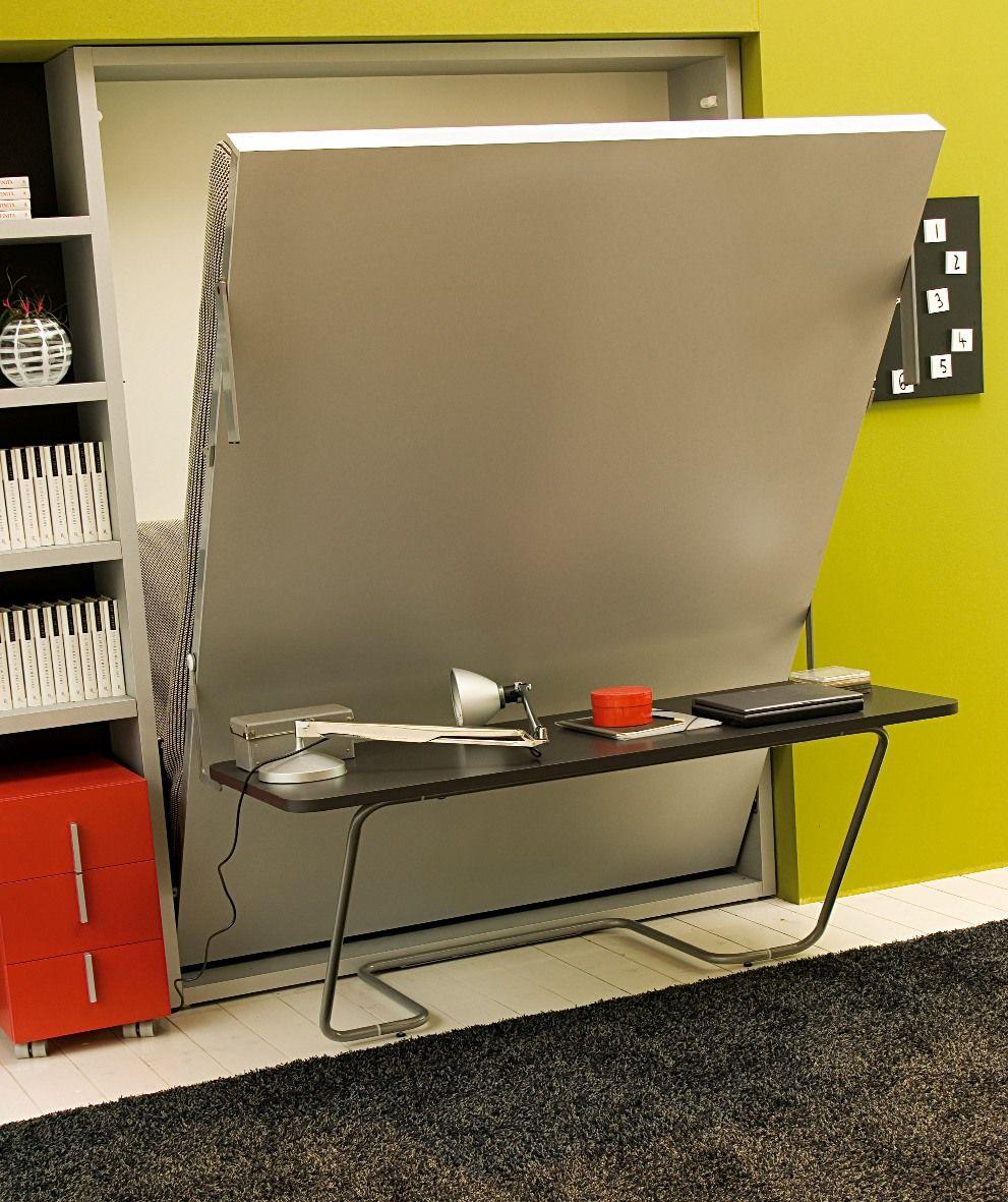Letto scomparsa Ulisse Desk con scrivania incorporata. Sistema ...