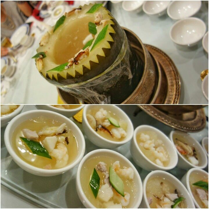 One Of My Favourite Chinese Soups Winter Melon Soup With Mushroom Crab Shrimp Scallop And Cucumber Preorder Chine Winter Melon Soup Food Shrimp And Rice