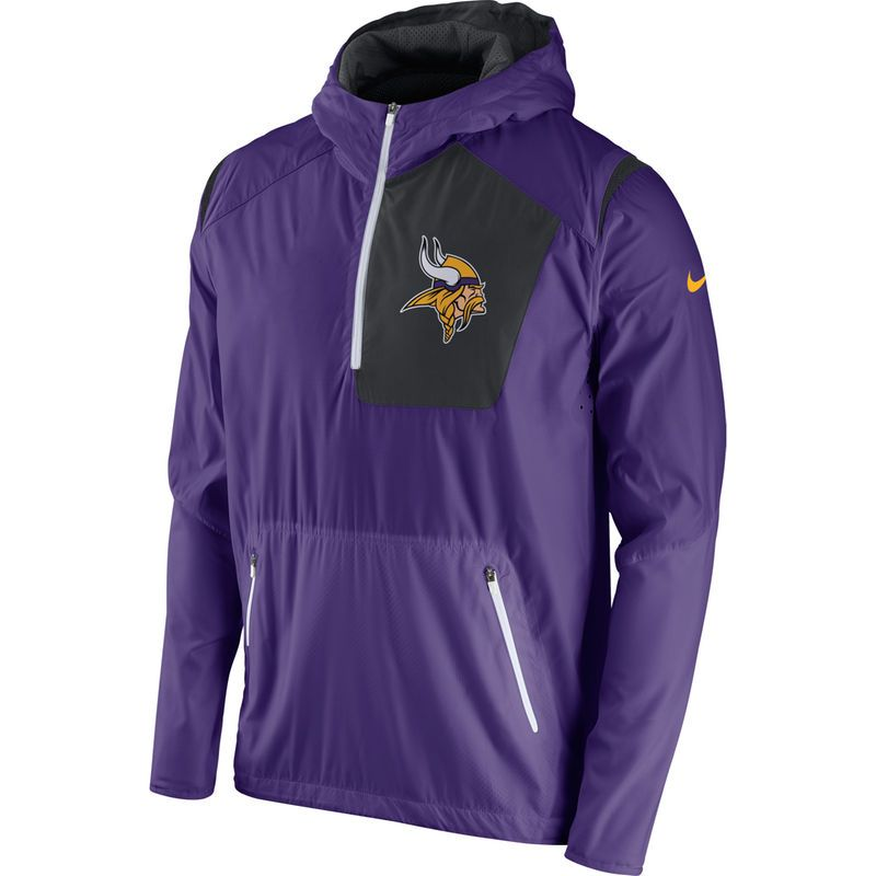 new arrival bf6af 8c0bc Minnesota Vikings Nike Vapor Speed Fly Rush Half-Zip Jacket ...