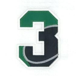 Zahl - Nummer - Number / 3 - Drei - Three (Hockey)