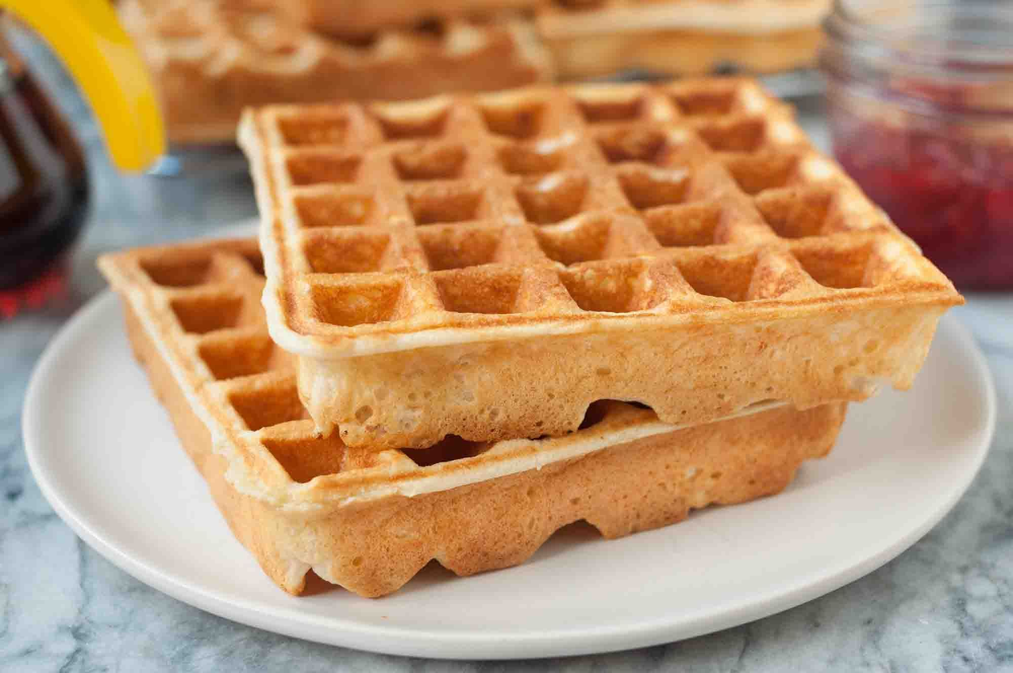 Classic Buttermilk Waffles Classic Buttermilk Waffles Light And Crispy Outside Tender In The Middle No Homemade Waffles Waffle Recipes Best Waffle Recipe