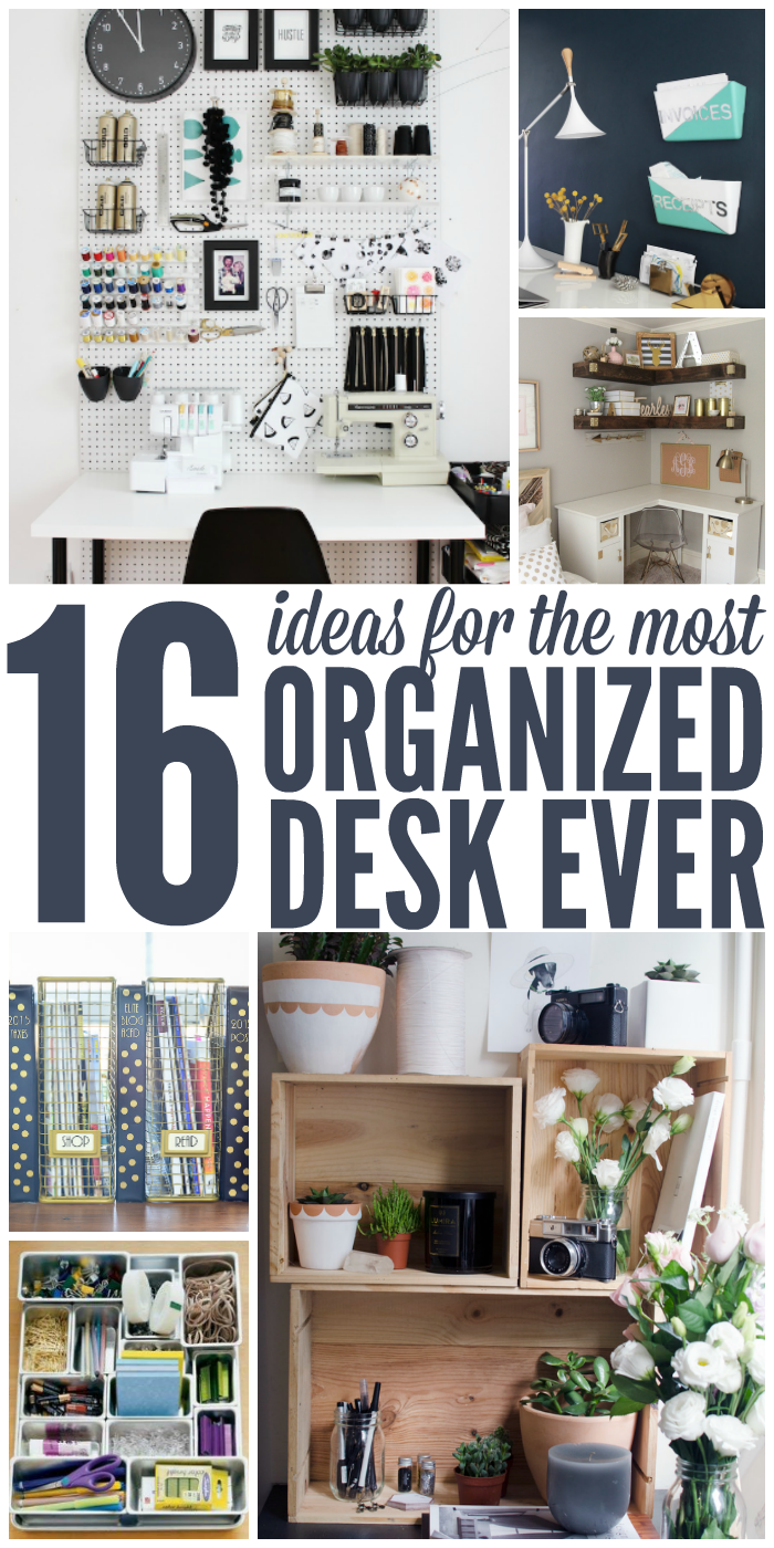 16 Ideas for the Most Organized Desk Ever -   19 diy Organization desk ideas