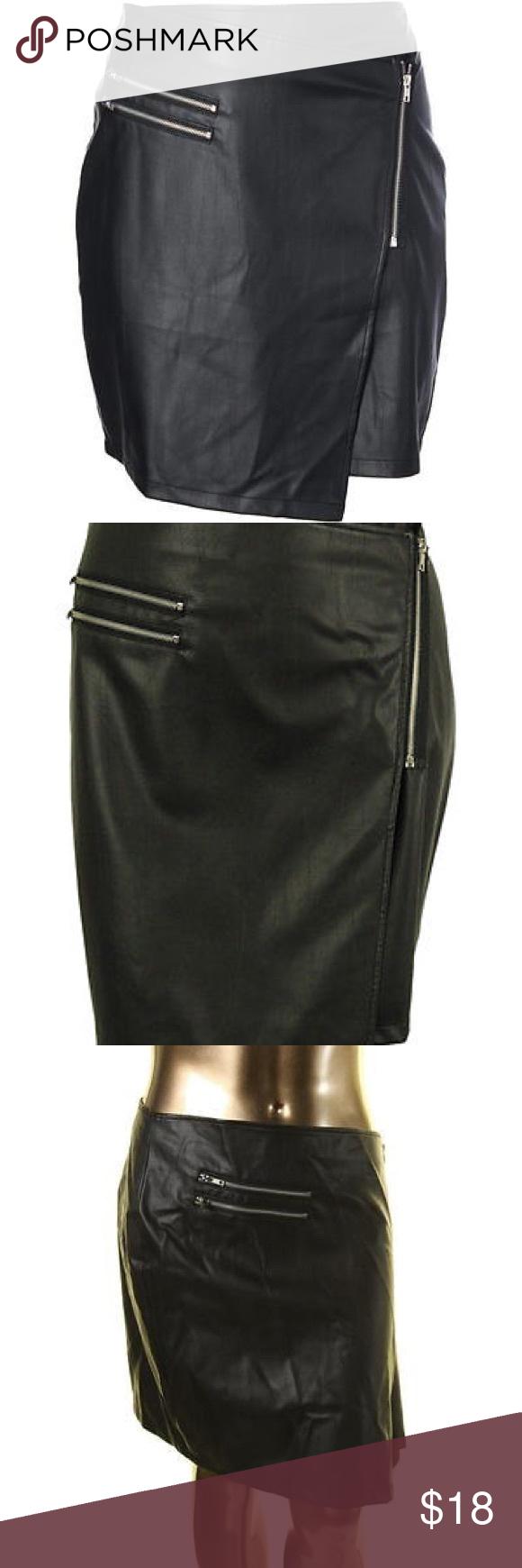 Torrid nwot cool Blk faux leather skirt size 0 Faux
