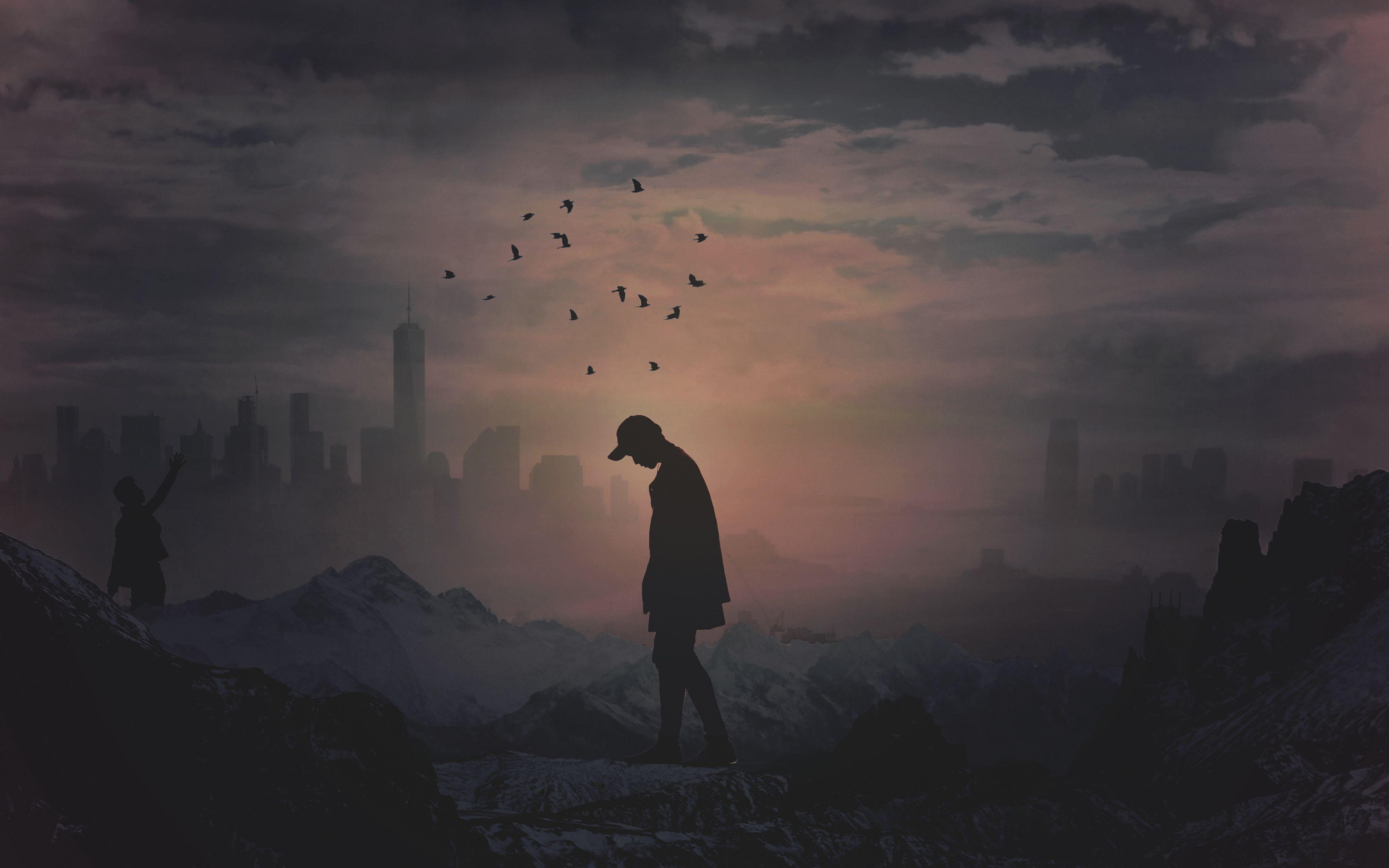 Alone_Silhouette_4k [3840 x 2400] in 2020 Cool desktop