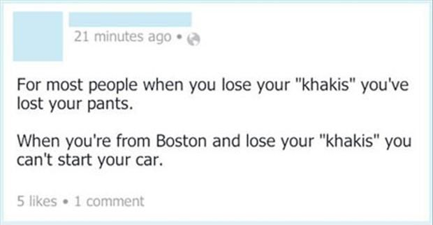 Funny Twitter Quotes Living In Boston Funny Accents With Images