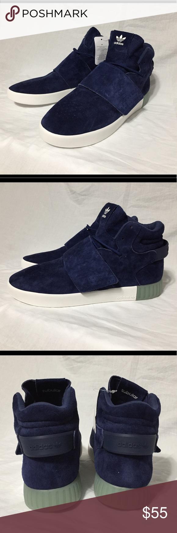 Digital Cadena Mount Bank  Adidas Tubular Invader Blue Suede Strap Shoes NWT | New adidas shoes, Blue  suede, Strap shoes