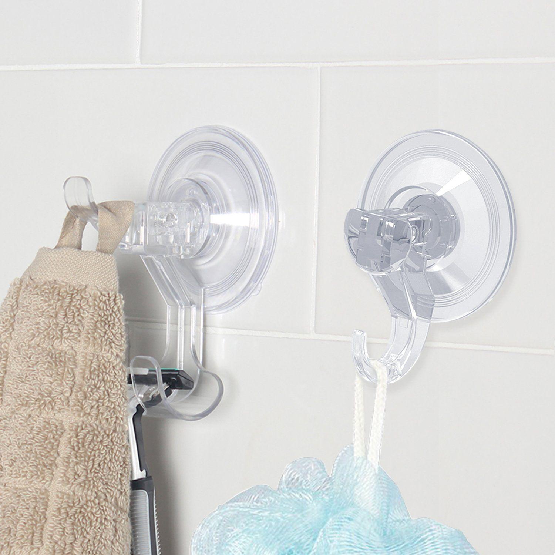 Luxear Razor Holder Shower Hooks Suction Cup Hooks Heavy Duty