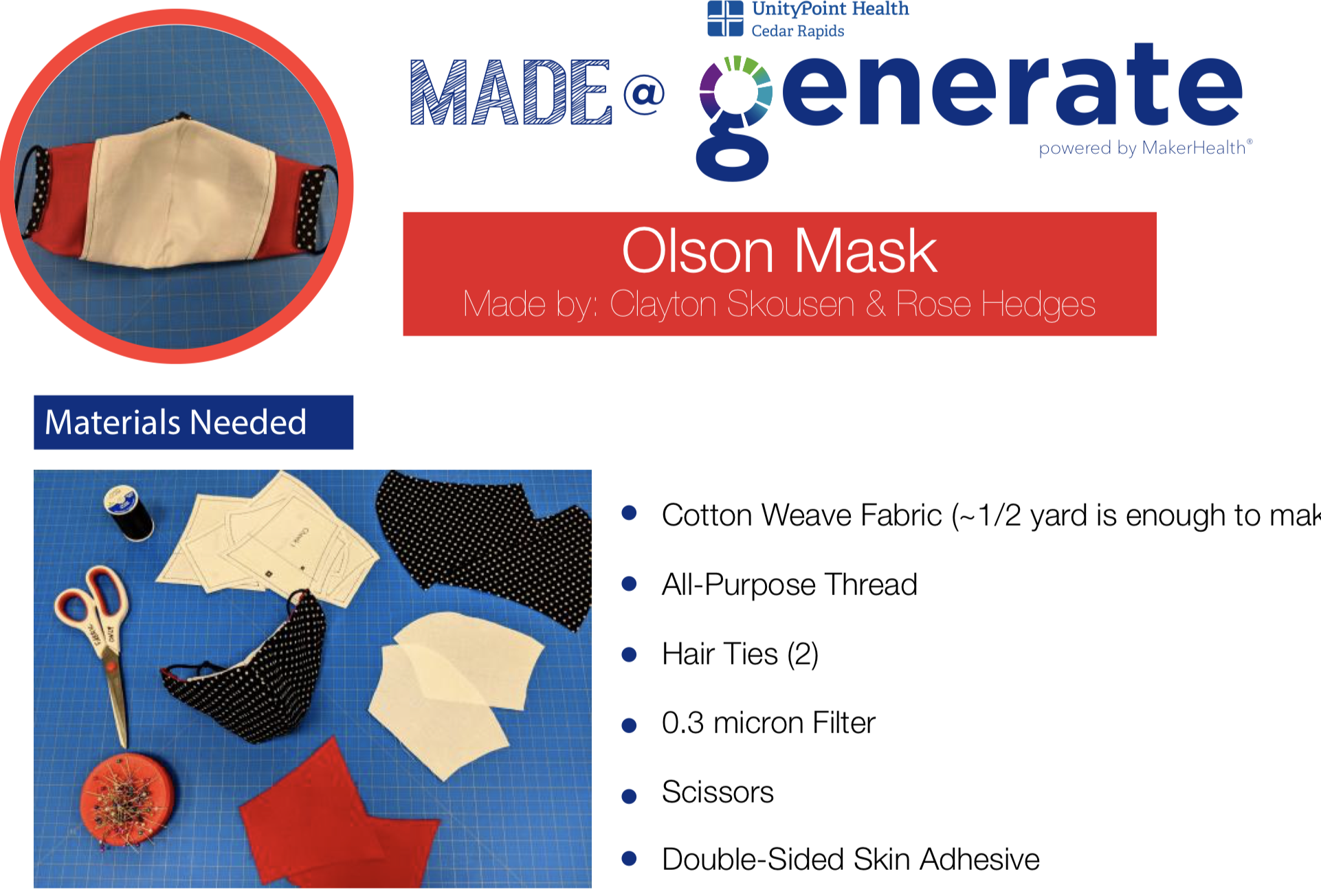 Simple Step By Step Tutorial For The Olson Face Mask Pattern