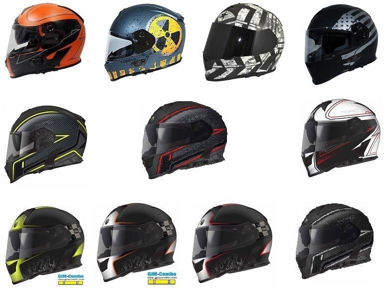 LIGHTNING, L V271 BLINC Motorbike Motorcycle Bluetooth Helmets VCAN Modular Flip Up Bluetooth Touring Helmets All